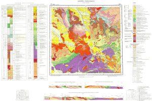 Harta geologică 1200000-foaia Brad