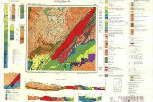 Harta geologică 1:50.000 - foaia Obârșia Cloșani
