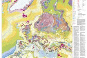Harta geologică a Europei 1:5.000.000