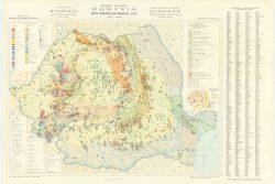 Hărţi din Atlasul geologic al României 11 mil - harta substanţelor minerale utile