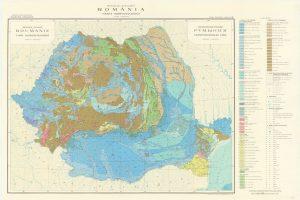 Hărţi din Atlasul geologic al României 11 mil - harta hidrogeologică