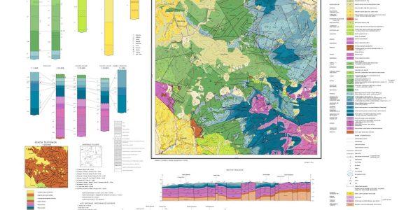 Harta geologica la scara 1 la 50000
